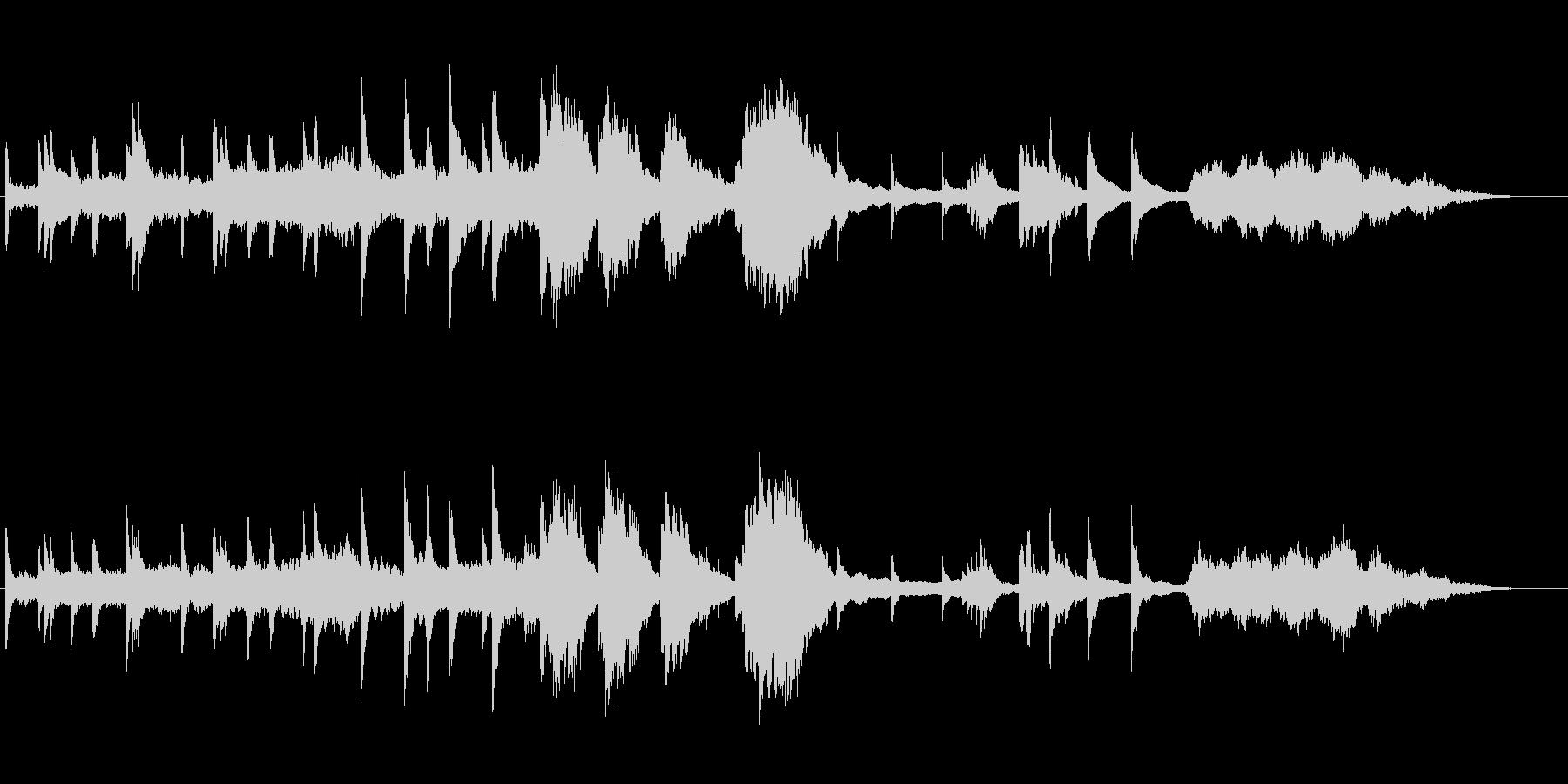 【ピアノ】別れ、最期、絶望、悲しみ、臨終の未再生の波形