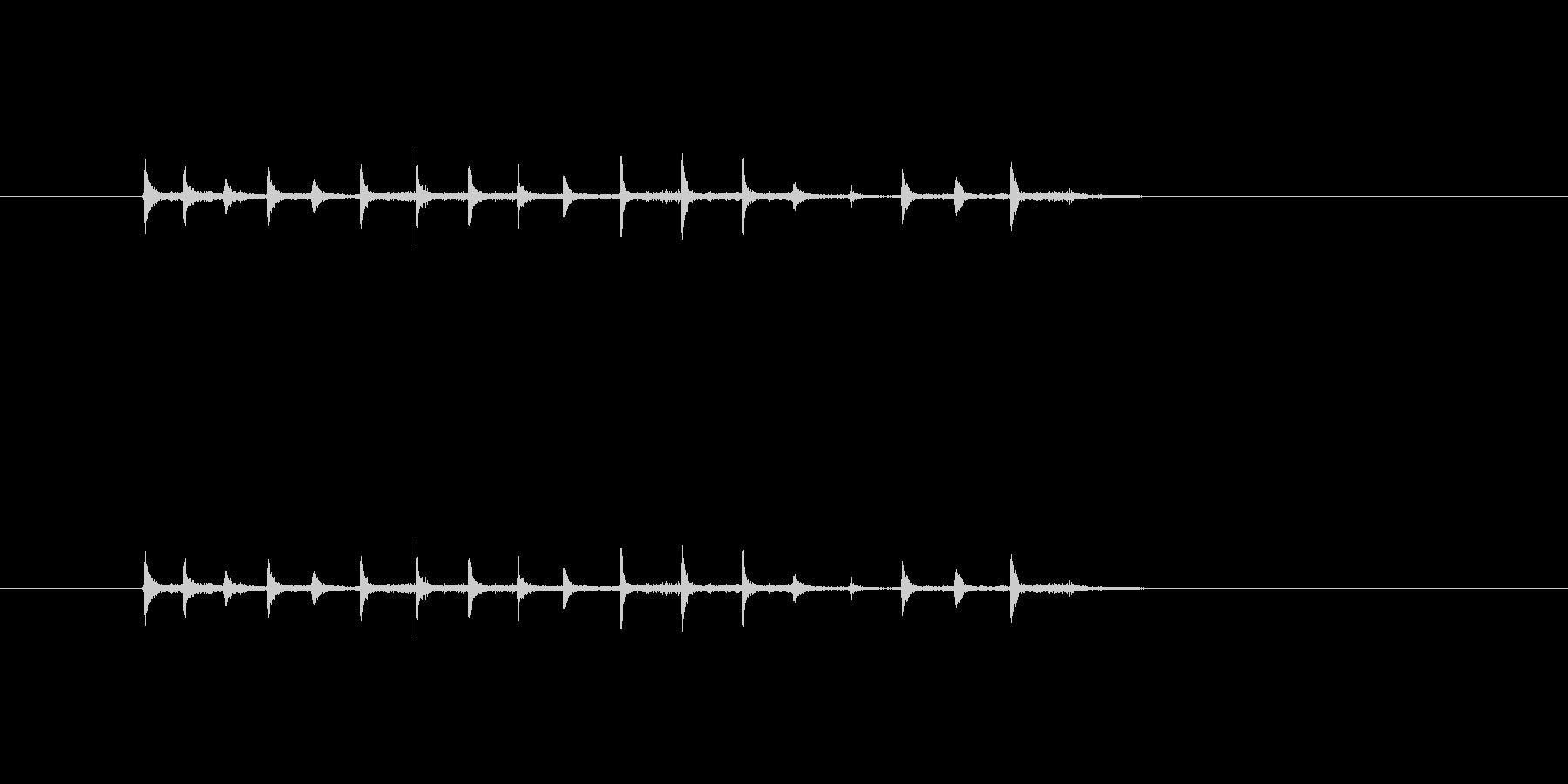 1人の拍手の未再生の波形