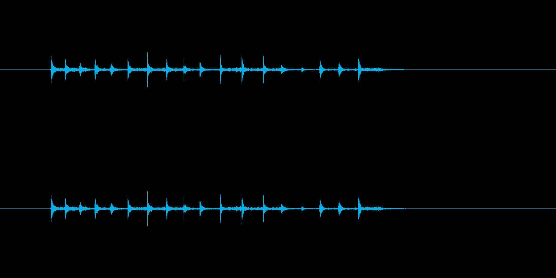 1人の拍手の再生済みの波形