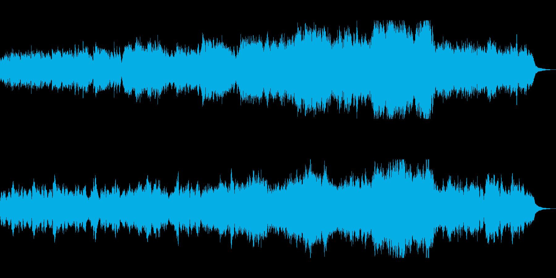 ハープとオーケストラのヒーリングの再生済みの波形