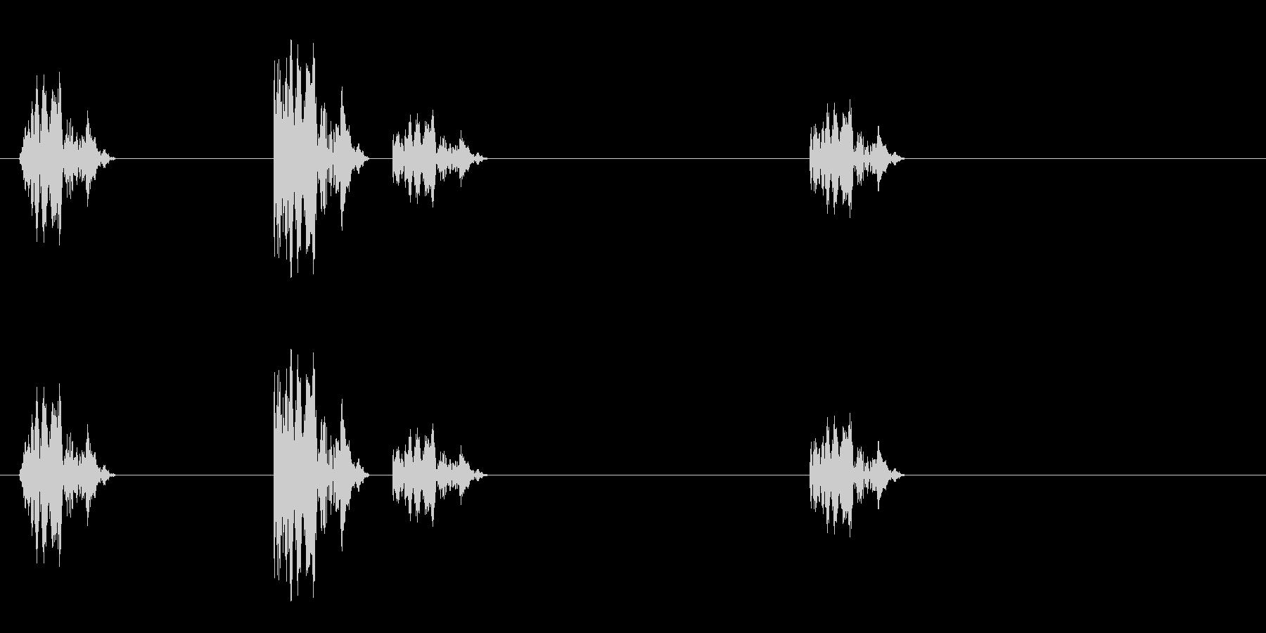 カッカカッカ(シューティング)の未再生の波形