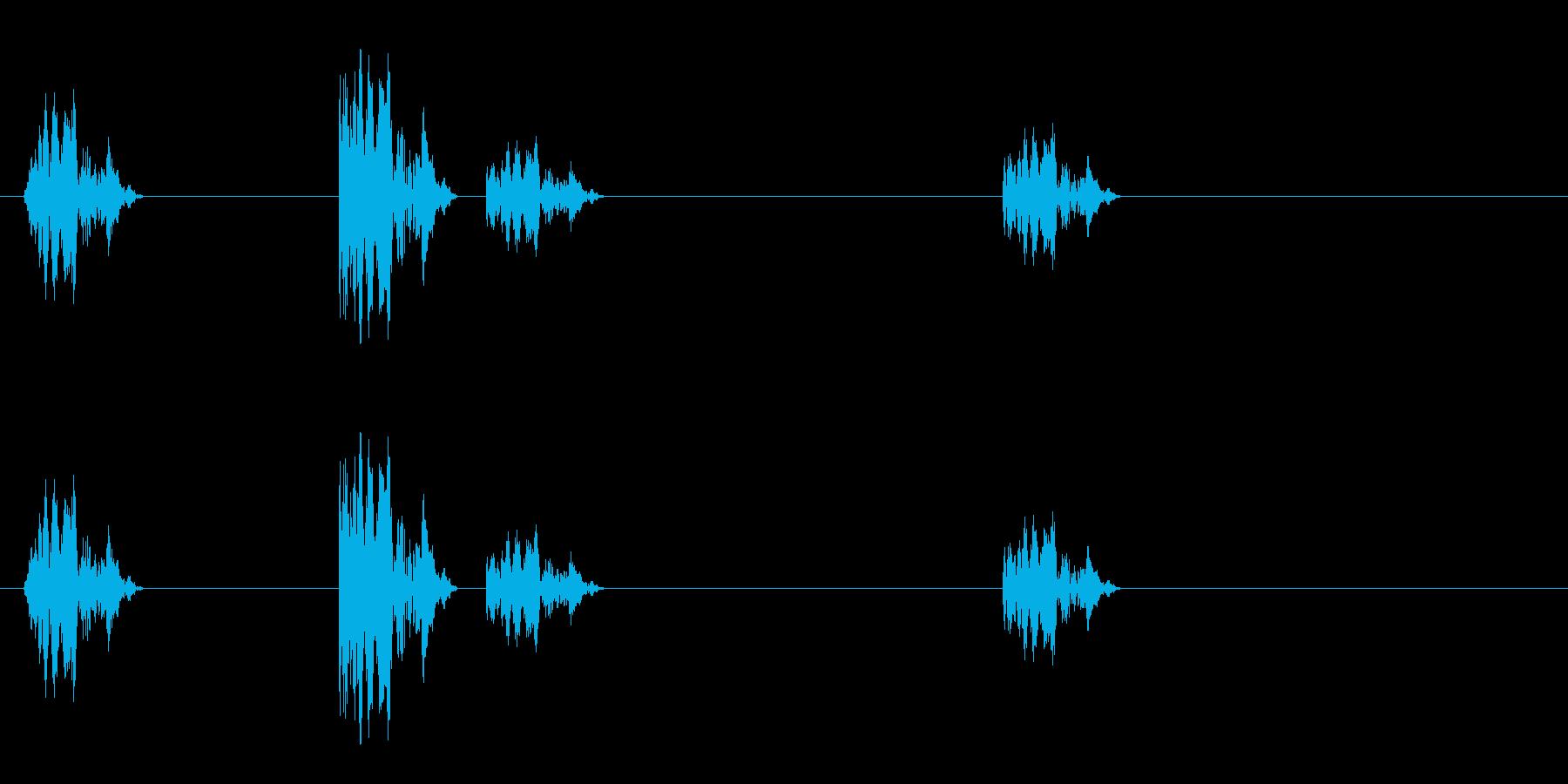カッカカッカ(シューティング)の再生済みの波形