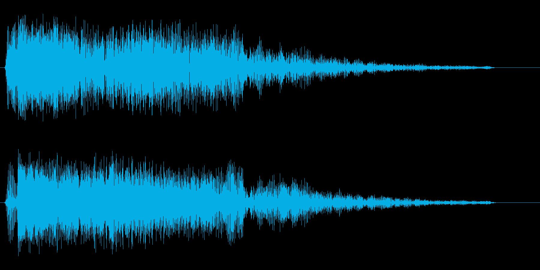 プワァァ〜(楽器系の音)の再生済みの波形