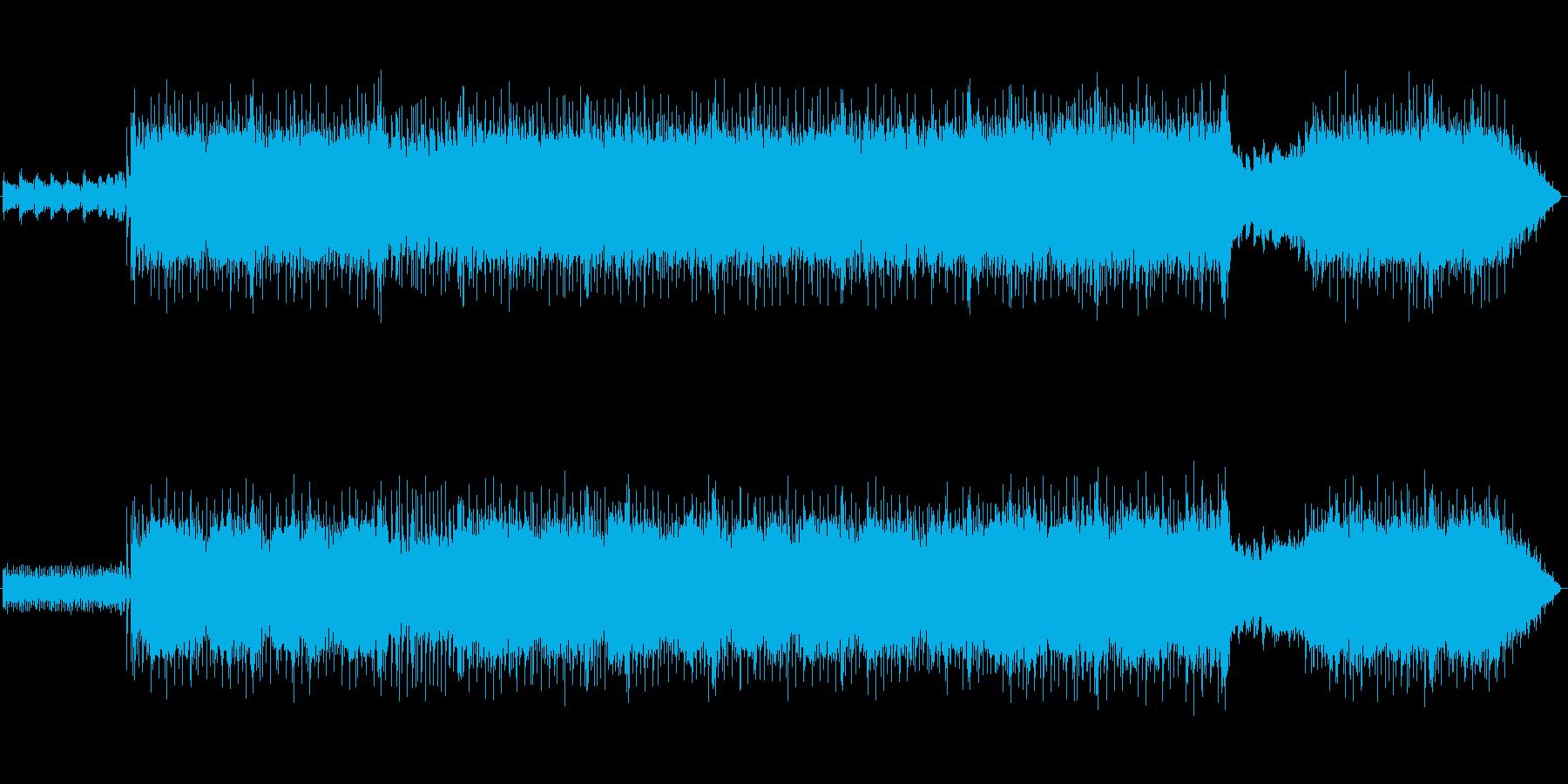 お城の中ボス風の戦闘曲の再生済みの波形
