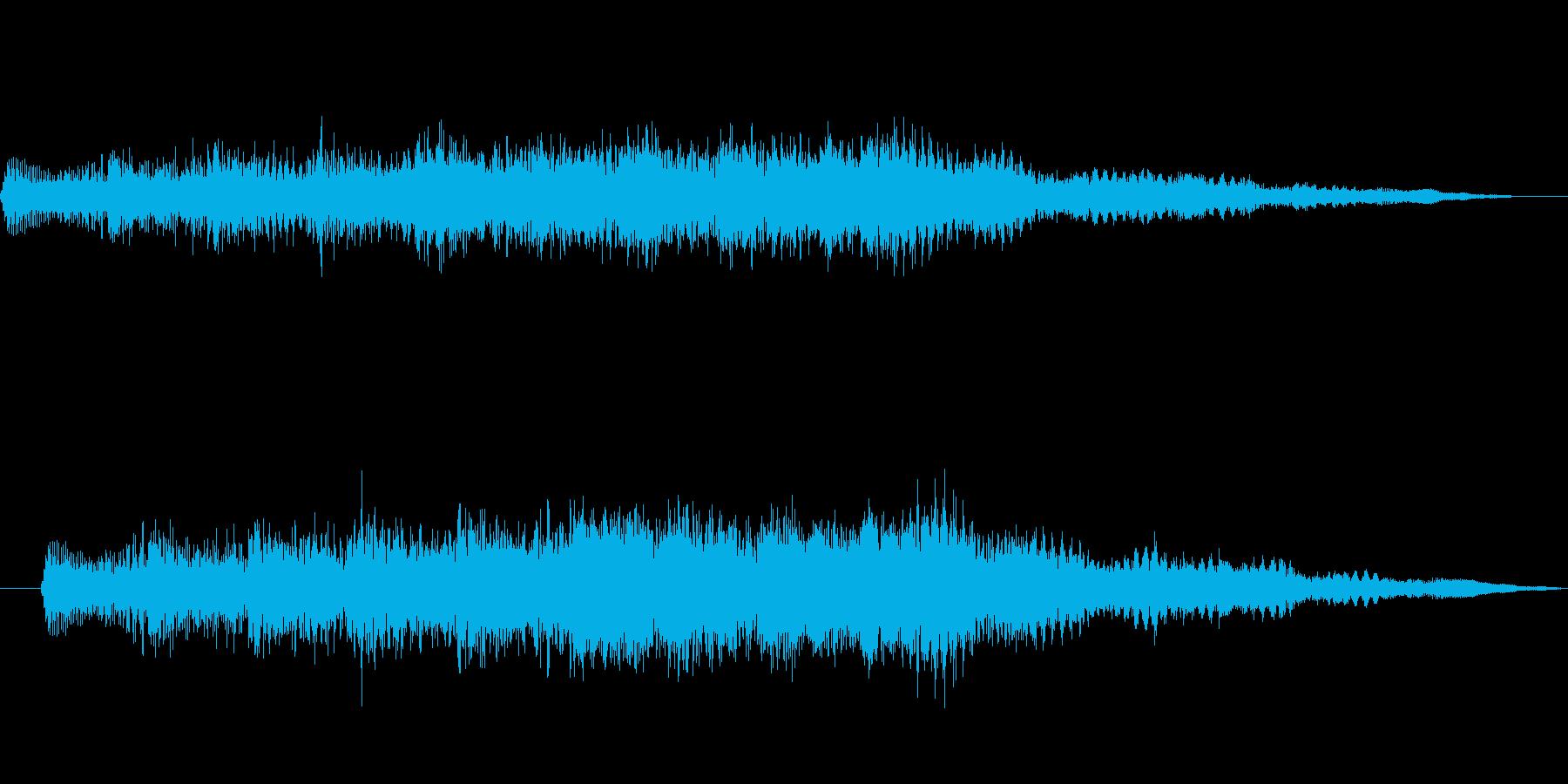 「テレテレテーン」 決定音っぽい感じの再生済みの波形