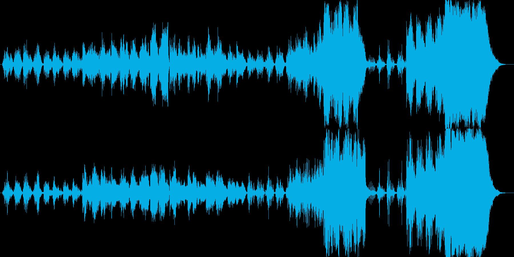 日本の凛とした情景を描いた尺八独奏曲の再生済みの波形