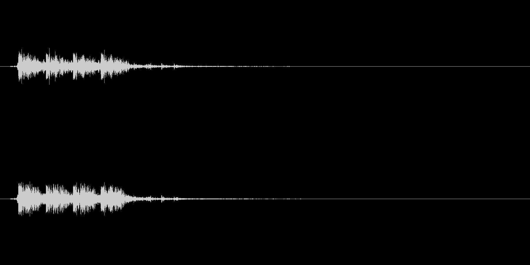 マシンガンの銃声の未再生の波形