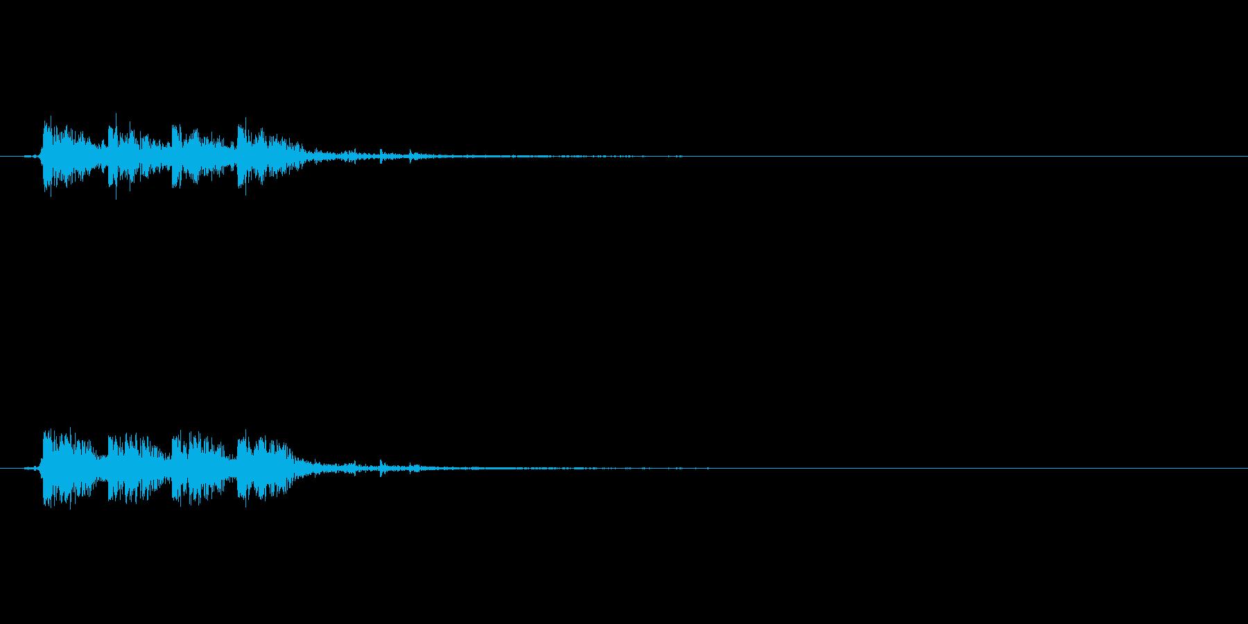 マシンガンの銃声の再生済みの波形