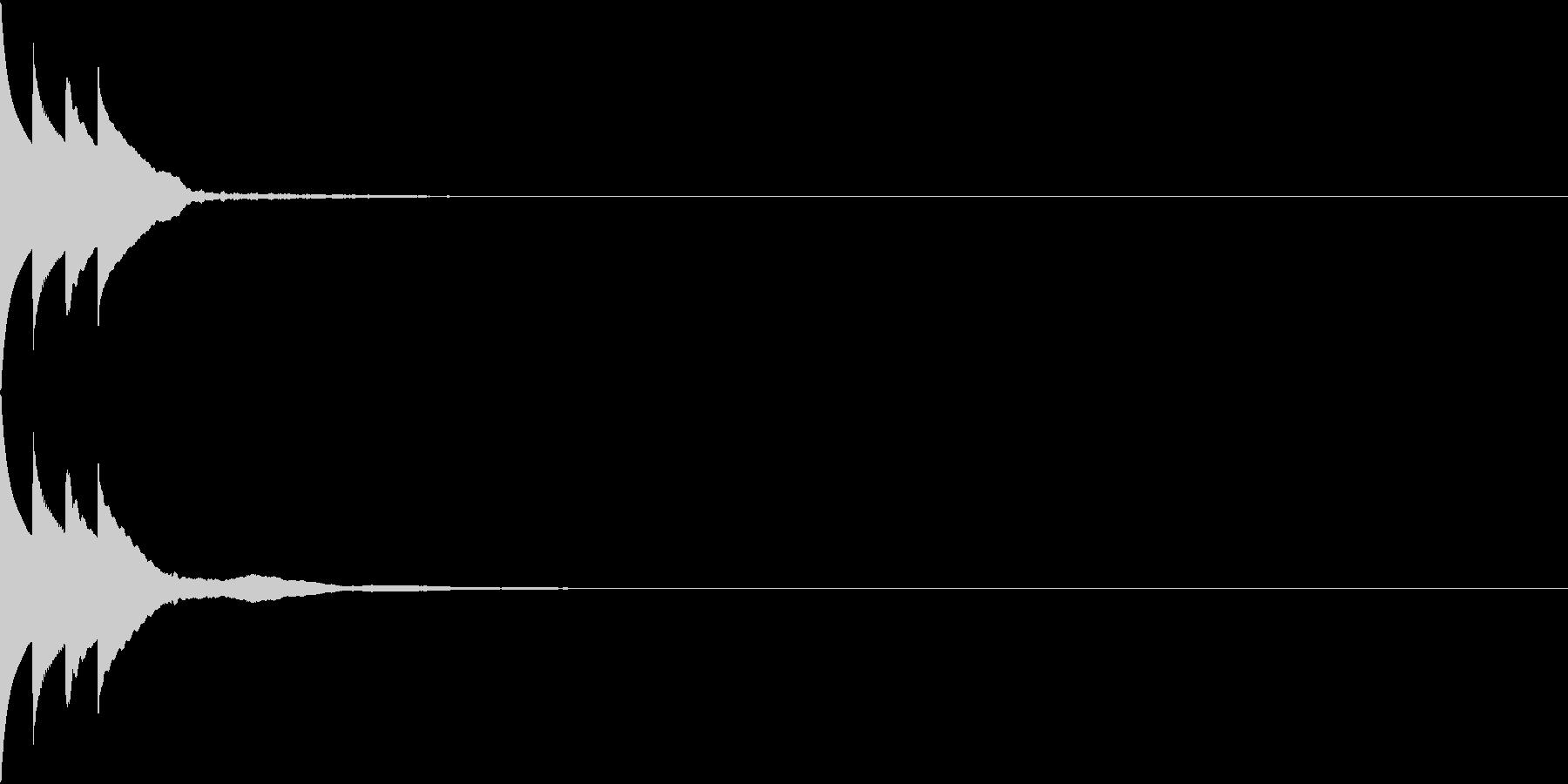 Bank 汎用性のある通知・認証音 3の未再生の波形