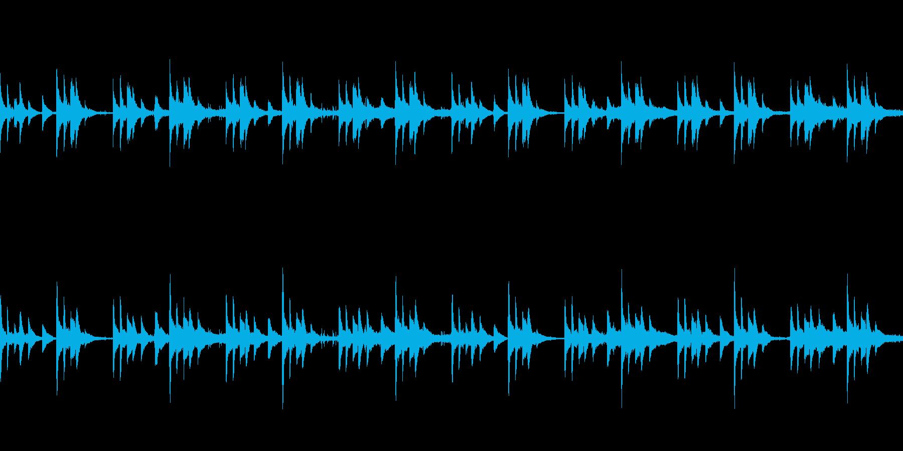 怖いことが起こりそうなループBGMの再生済みの波形