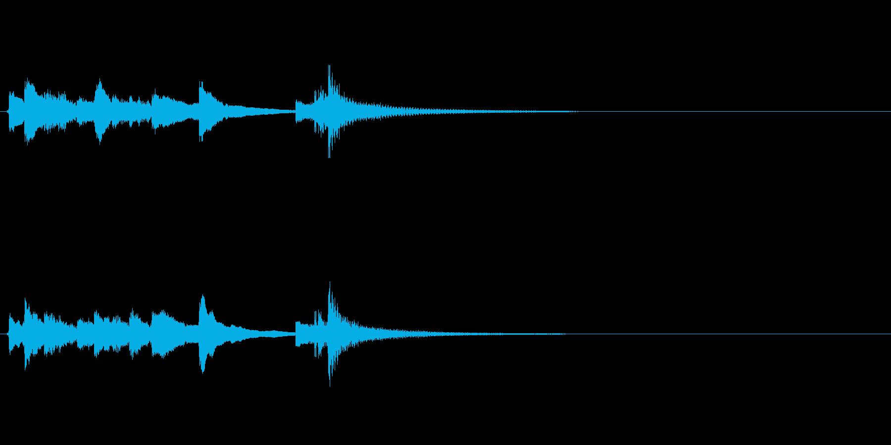 和風 ジングル サウンドロゴ 琴 太鼓の再生済みの波形