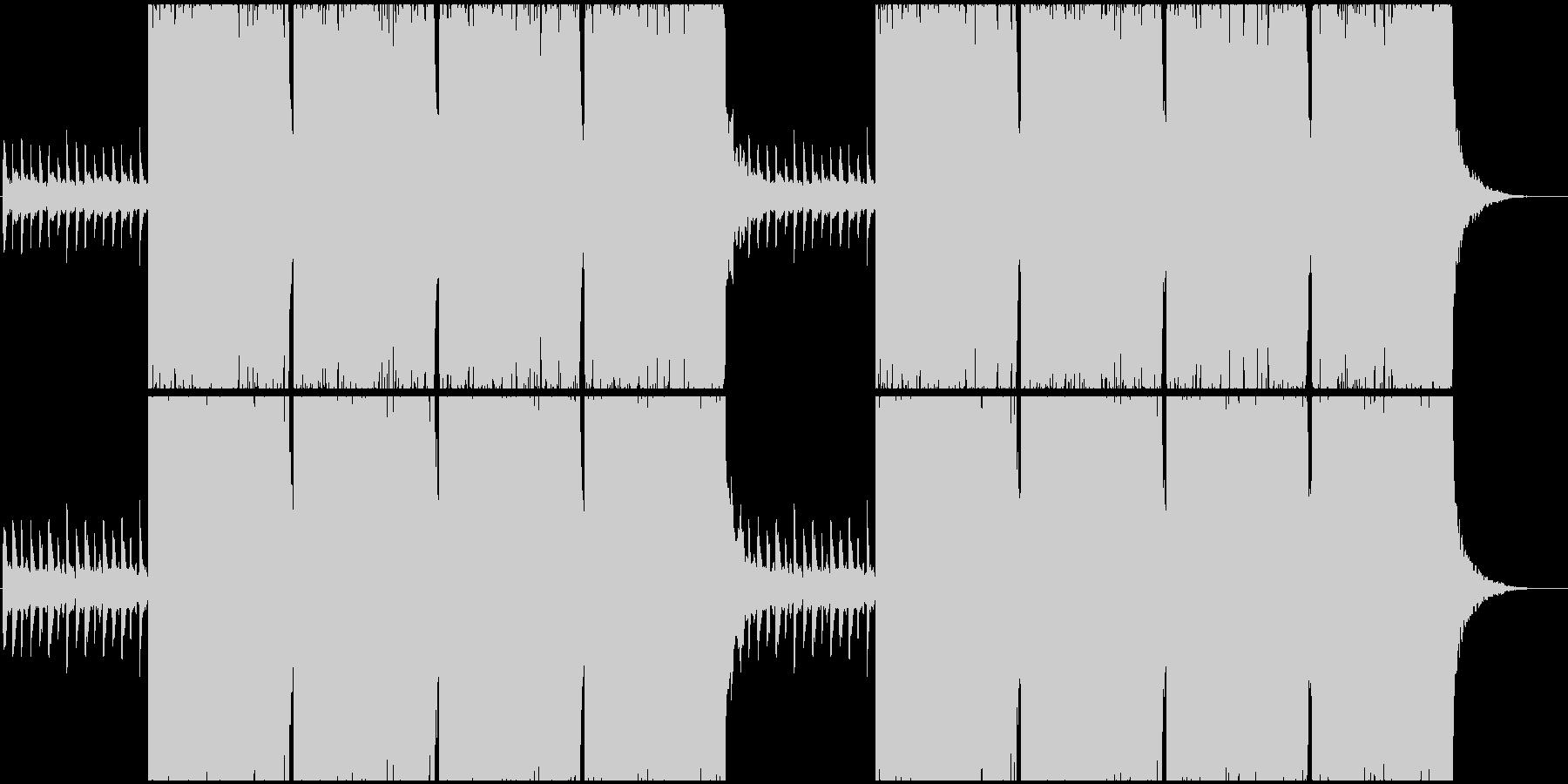 何かを始める時のロックBGMの未再生の波形