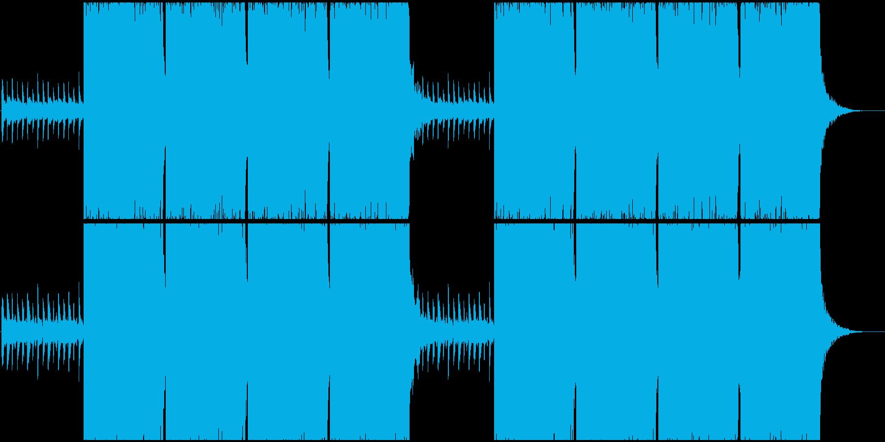 何かを始める時のロックBGMの再生済みの波形