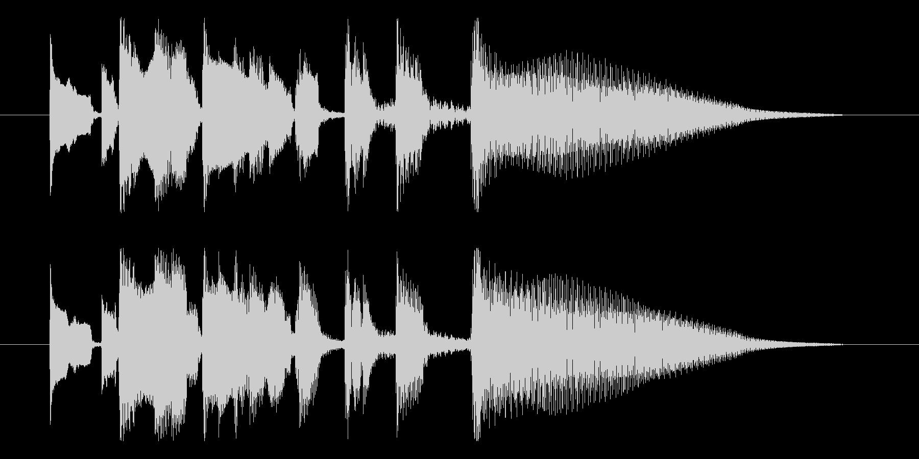 【斜に構える1】の未再生の波形