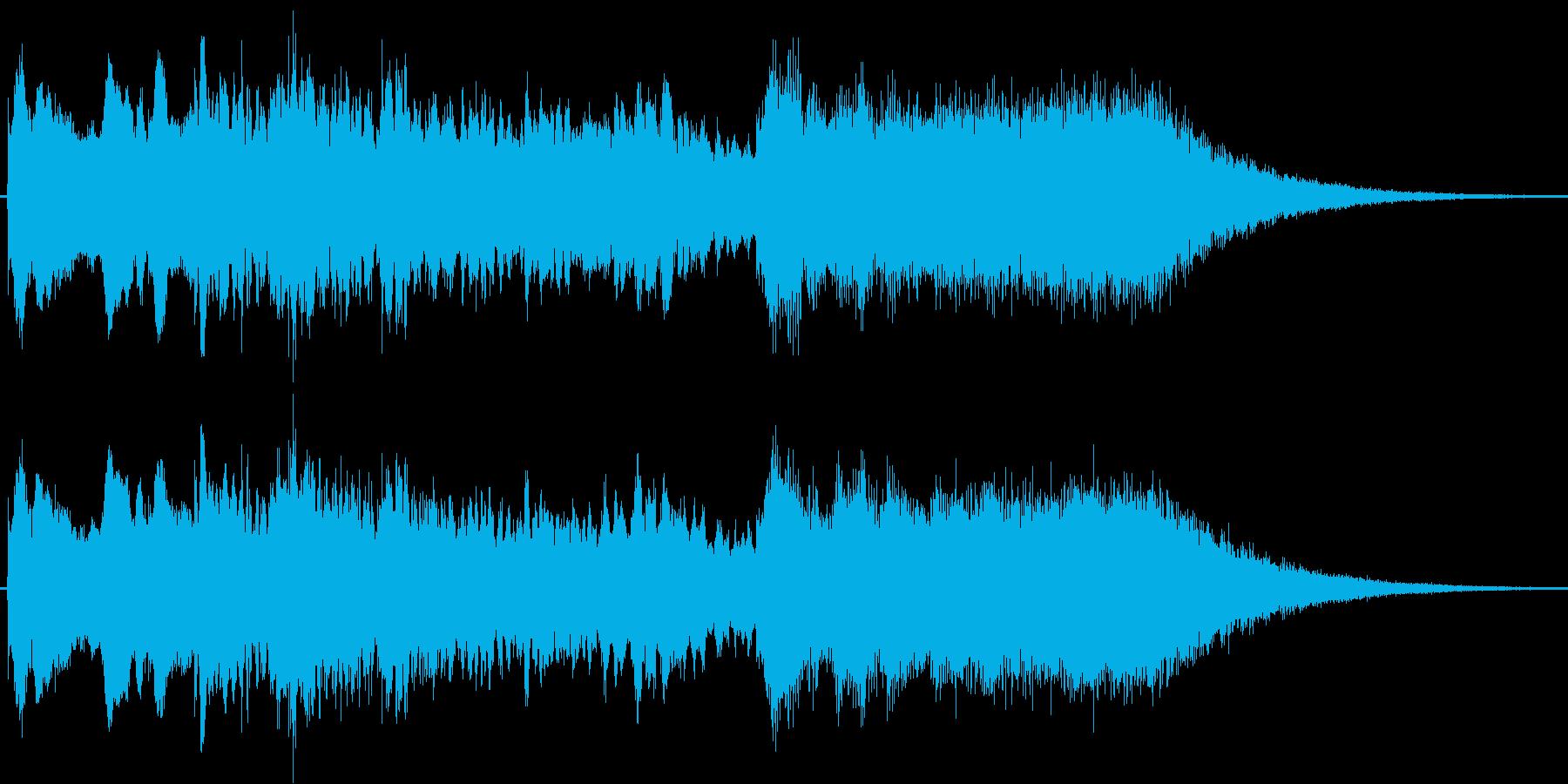 神秘的なジングル(チャイム)の再生済みの波形