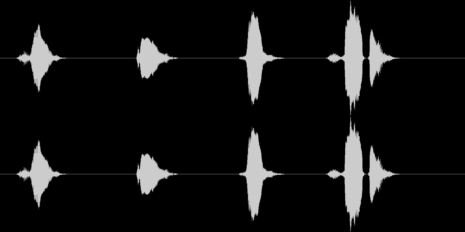 3(スリー)・2(トゥー)・1(ワン)…の未再生の波形