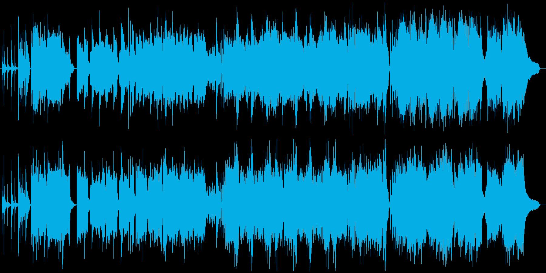 ゲームや動画:切ないピアノのバラードの再生済みの波形