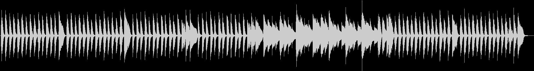 前打音を多用したリズミカルなピアノ曲の未再生の波形