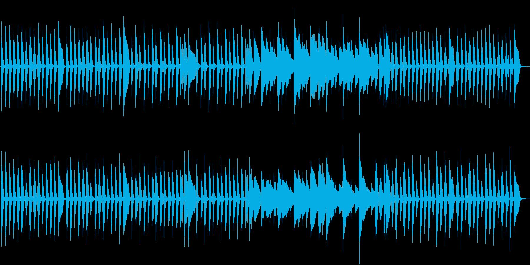 前打音を多用したリズミカルなピアノ曲の再生済みの波形