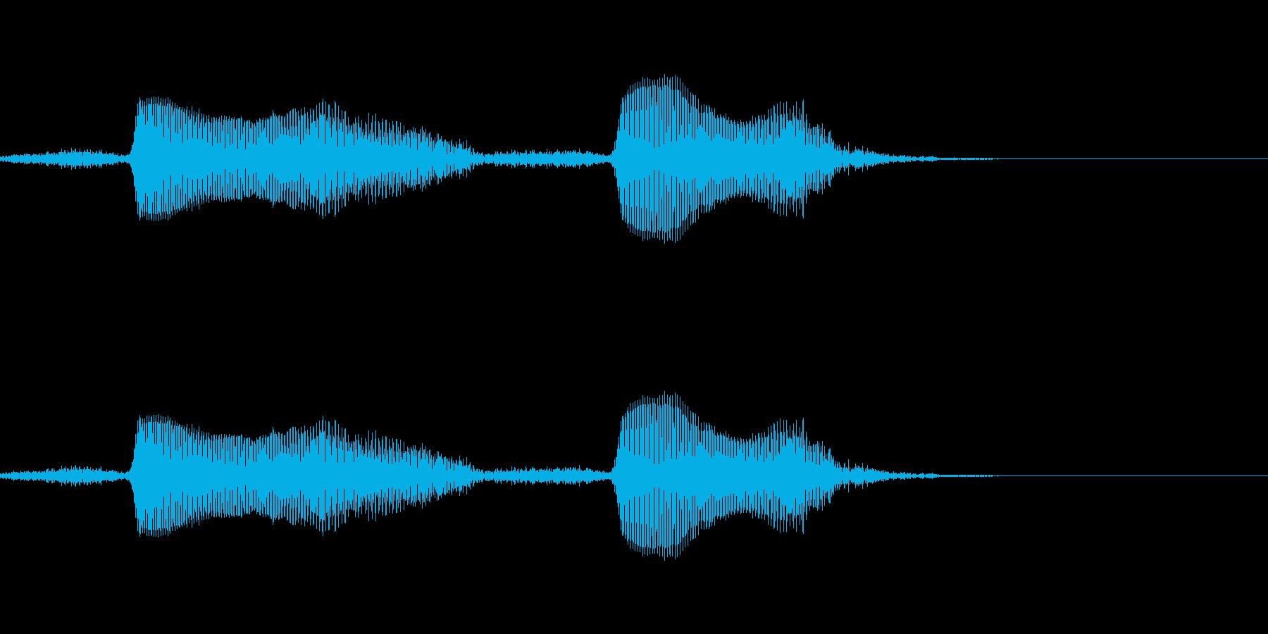 すやすやの再生済みの波形