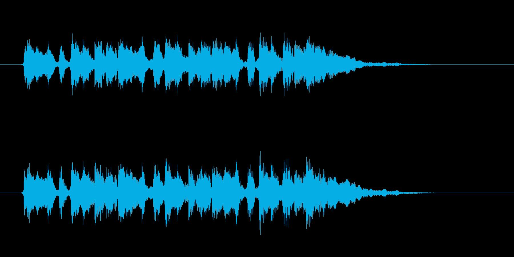 ふんわりとした可憐で優しいシンセジングルの再生済みの波形
