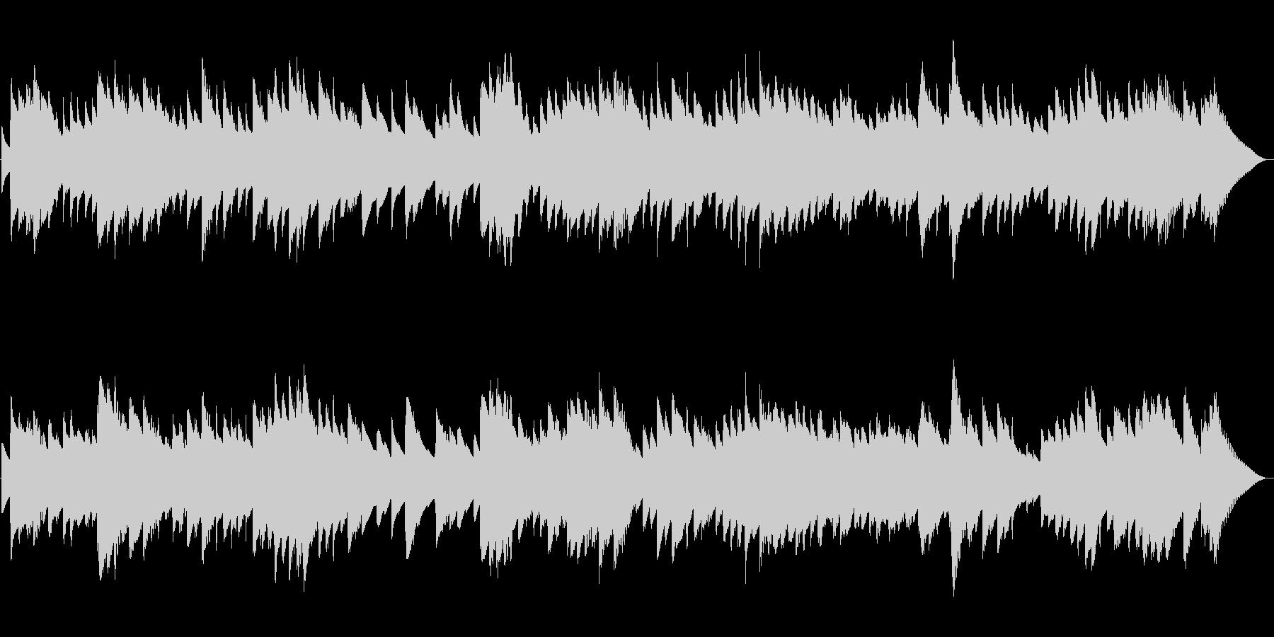 ショパンの別れの曲オルゴール風の未再生の波形