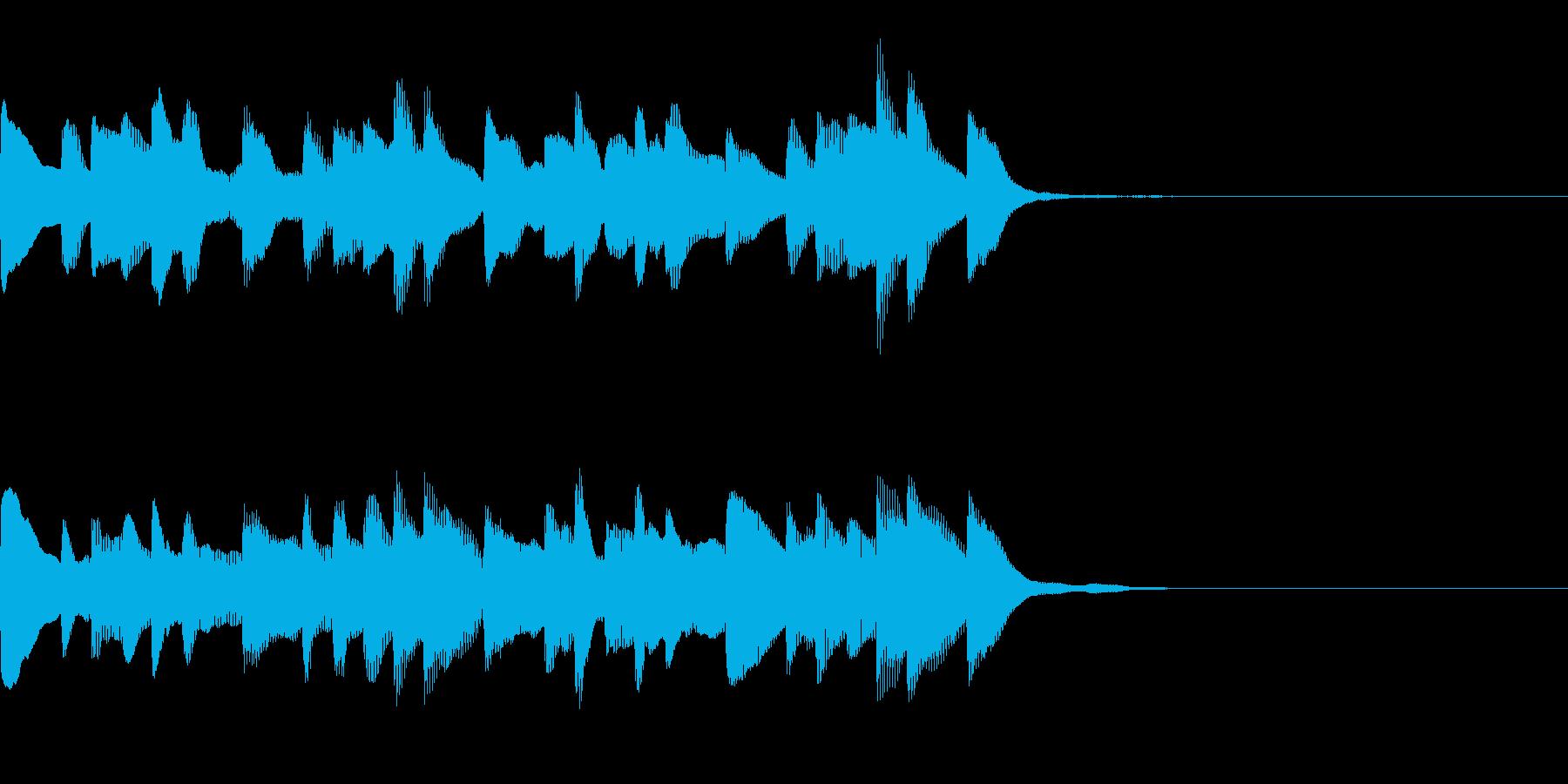 シューティングゲームオーバーの再生済みの波形