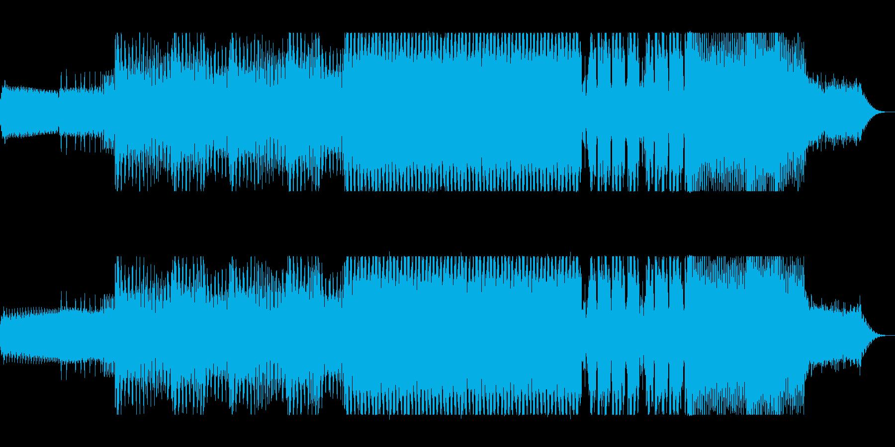 不思議なループ、浮遊感あるテクノの曲の再生済みの波形