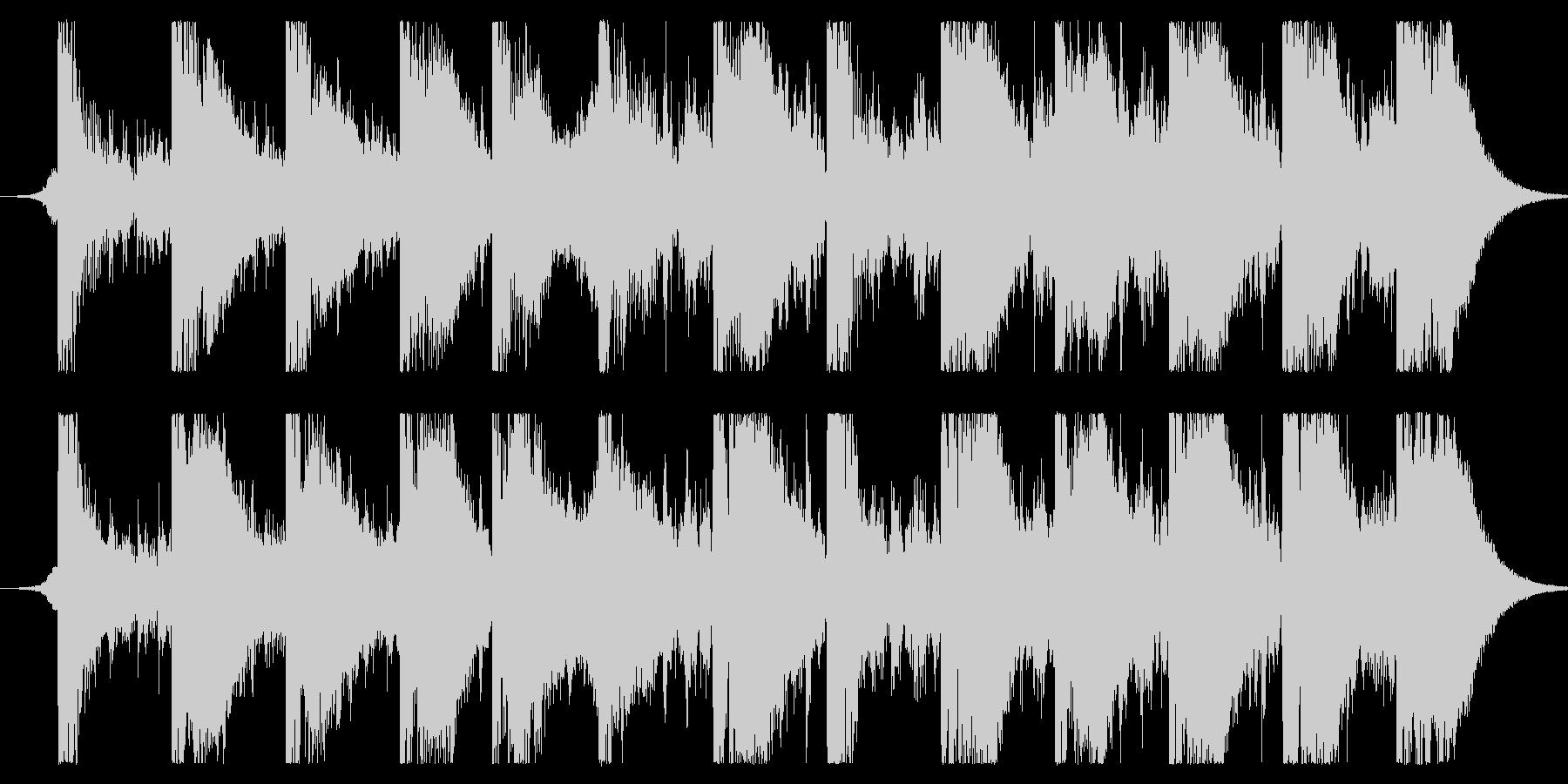 アクションドラマによくある追跡シーンを…の未再生の波形