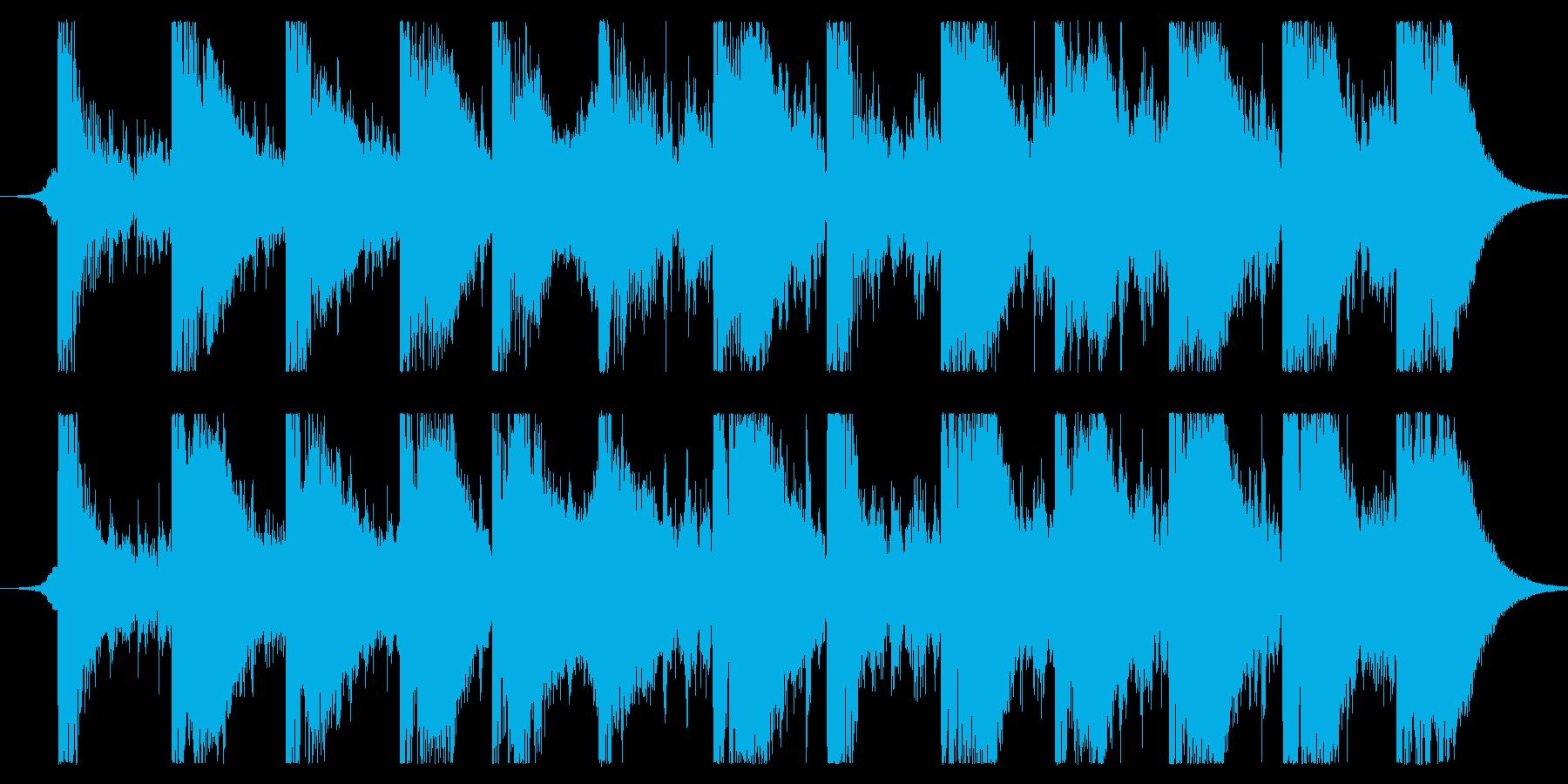 アクションドラマによくある追跡シーンを…の再生済みの波形