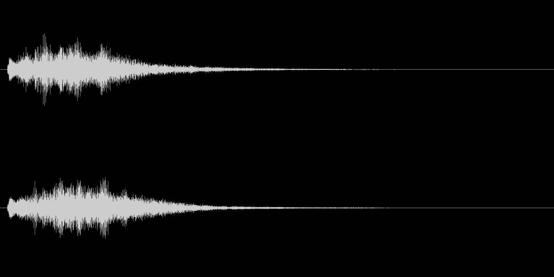 透明感のある上昇系SEの未再生の波形