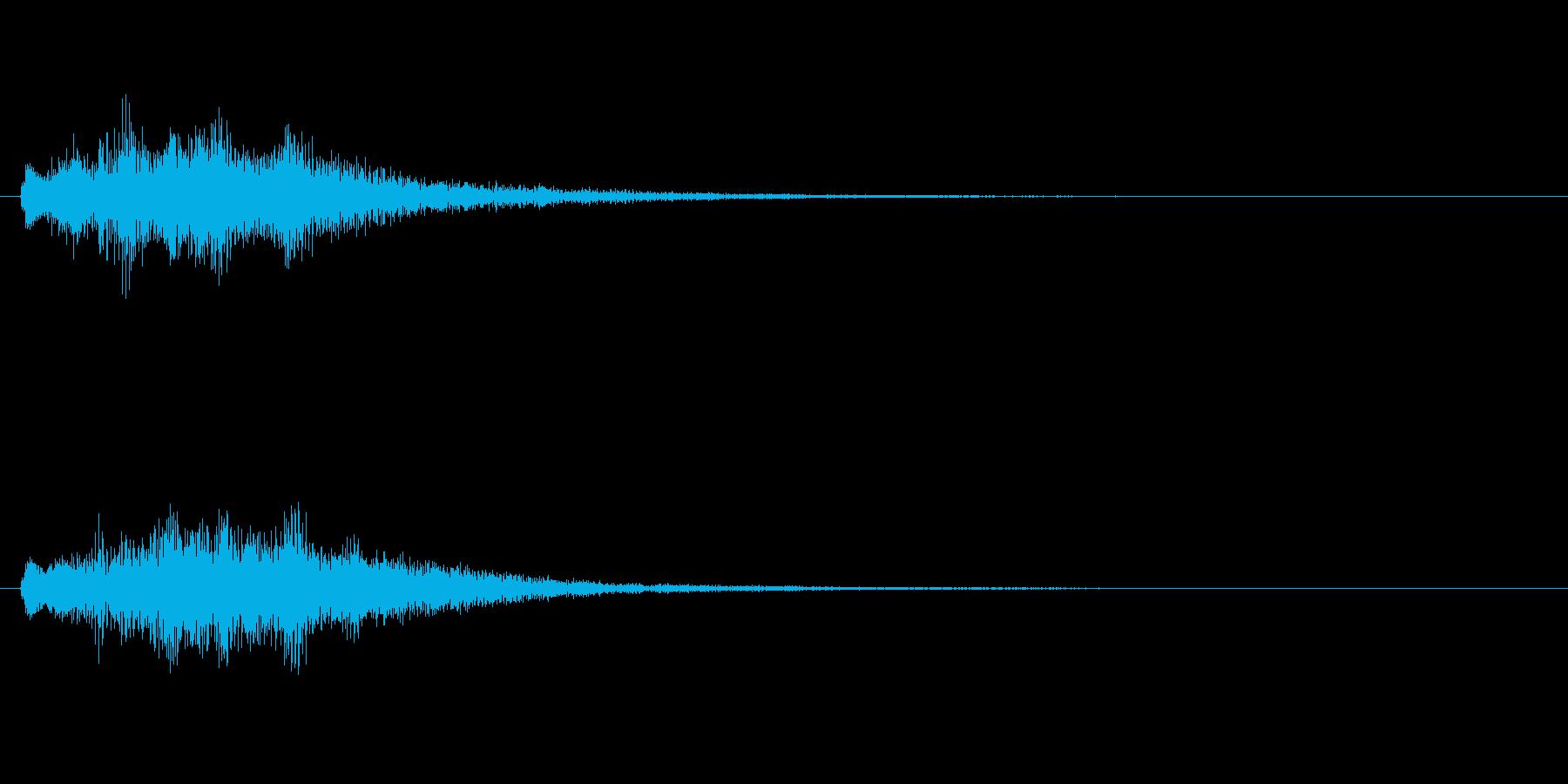 透明感のある上昇系SEの再生済みの波形