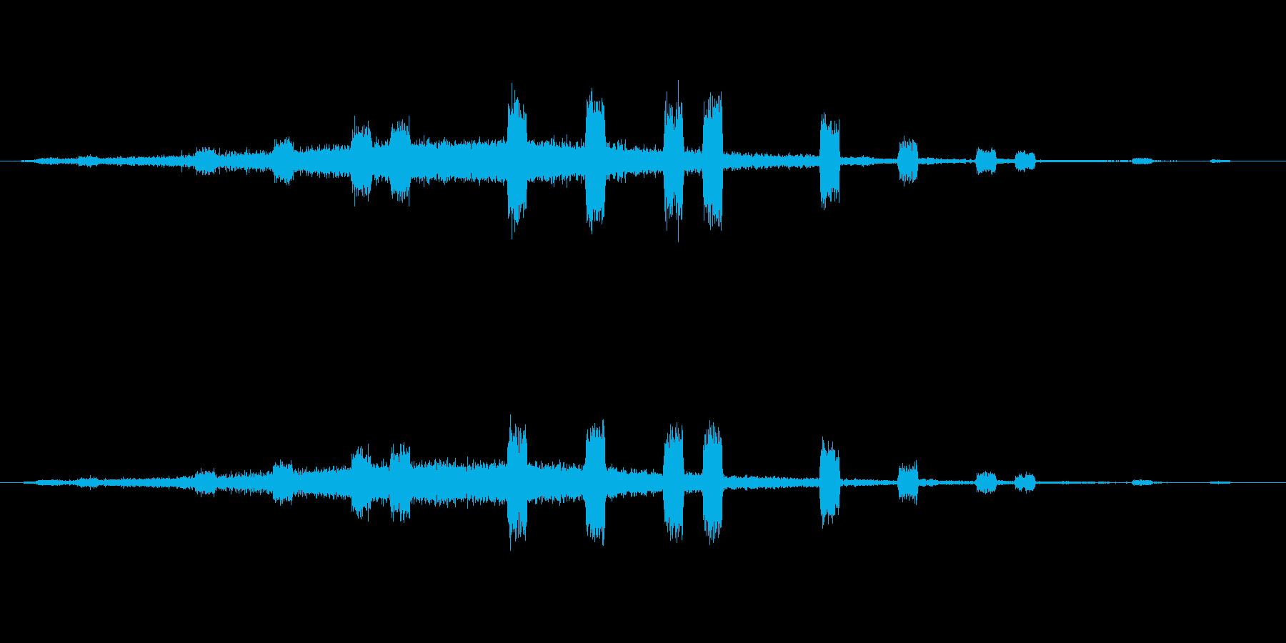 企業のサウンドロゴ(Cool+進歩)の再生済みの波形