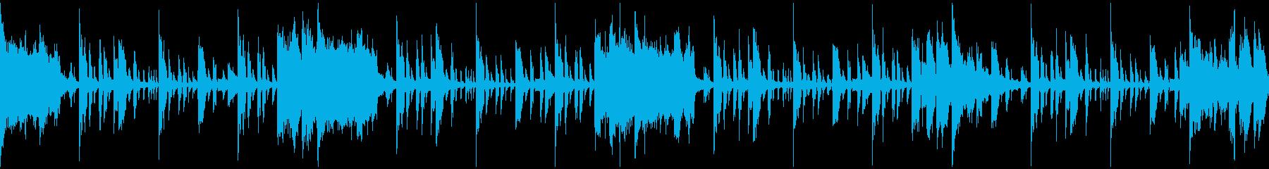 サスペンス調のエレクトロニカループの再生済みの波形