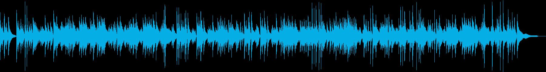 穏やかなボサノバのピアノ曲の再生済みの波形