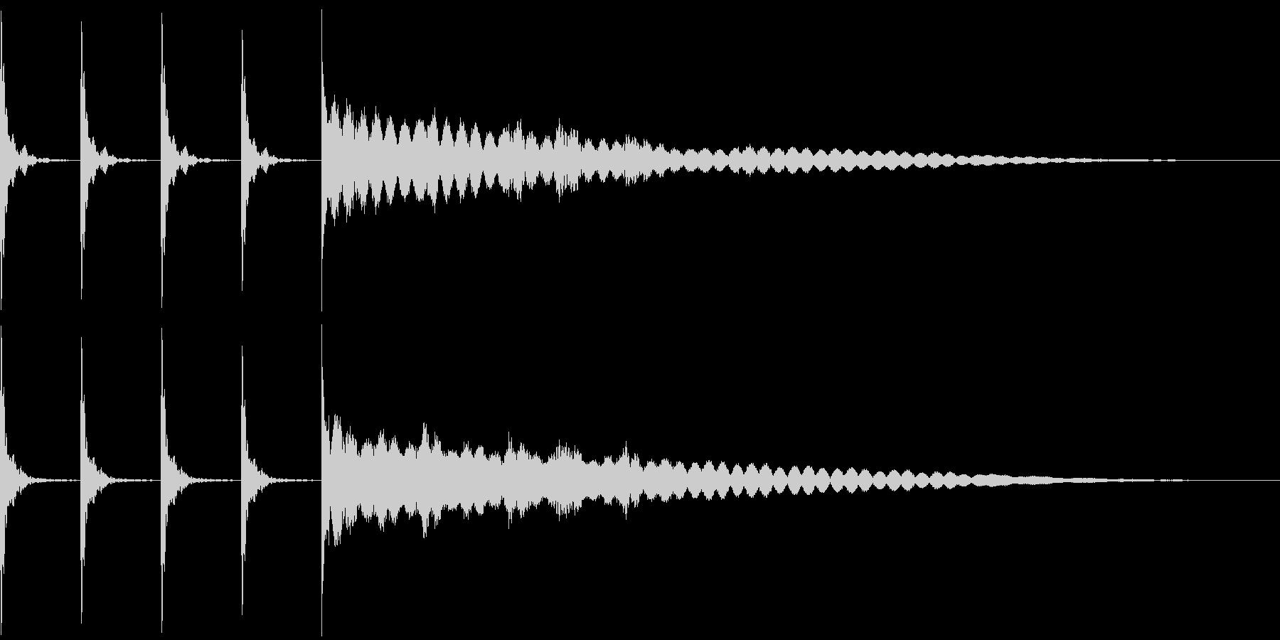ポクポクポクチーン 木魚その1の未再生の波形