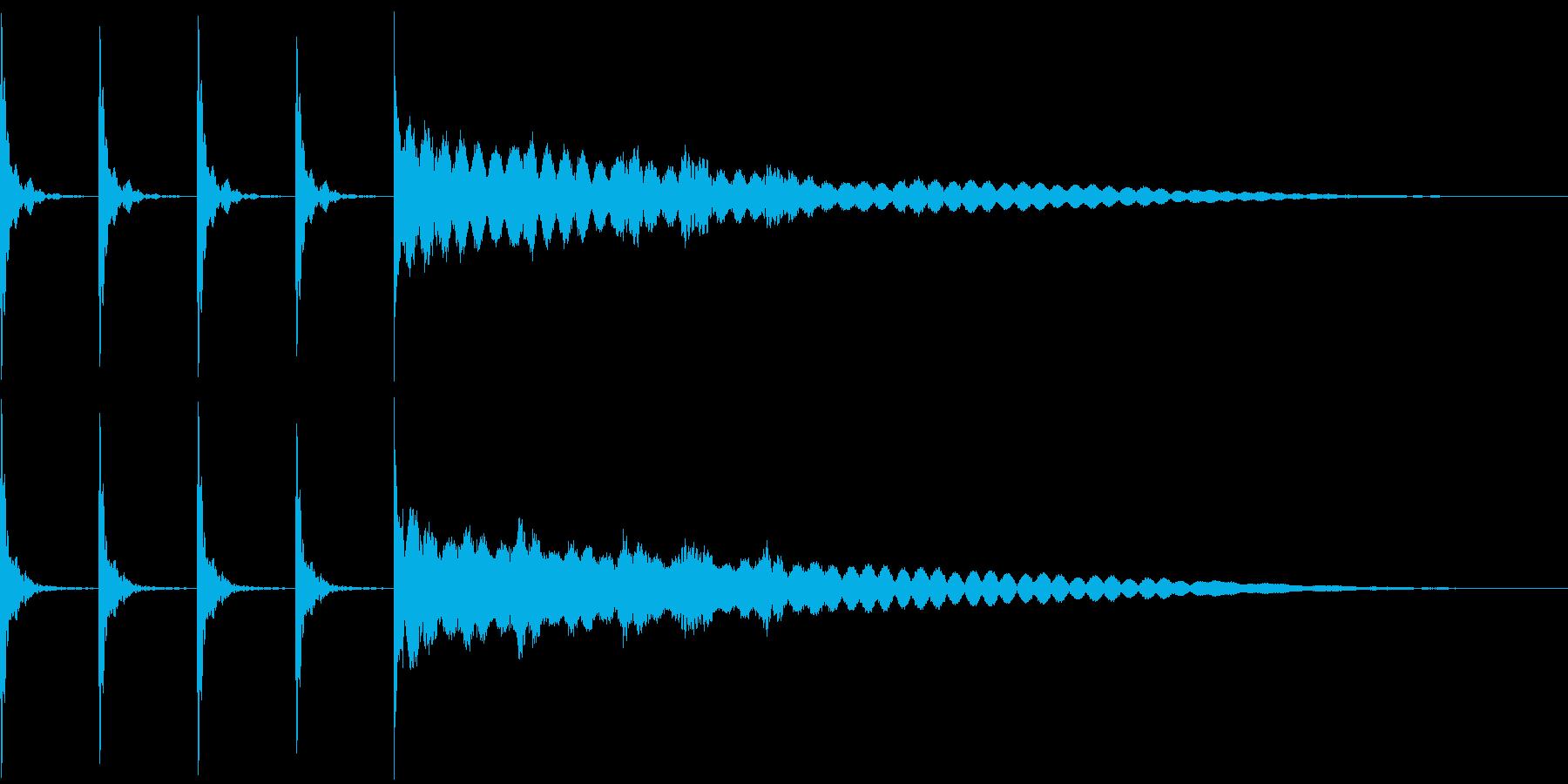 ポクポクポクチーン 木魚その1の再生済みの波形