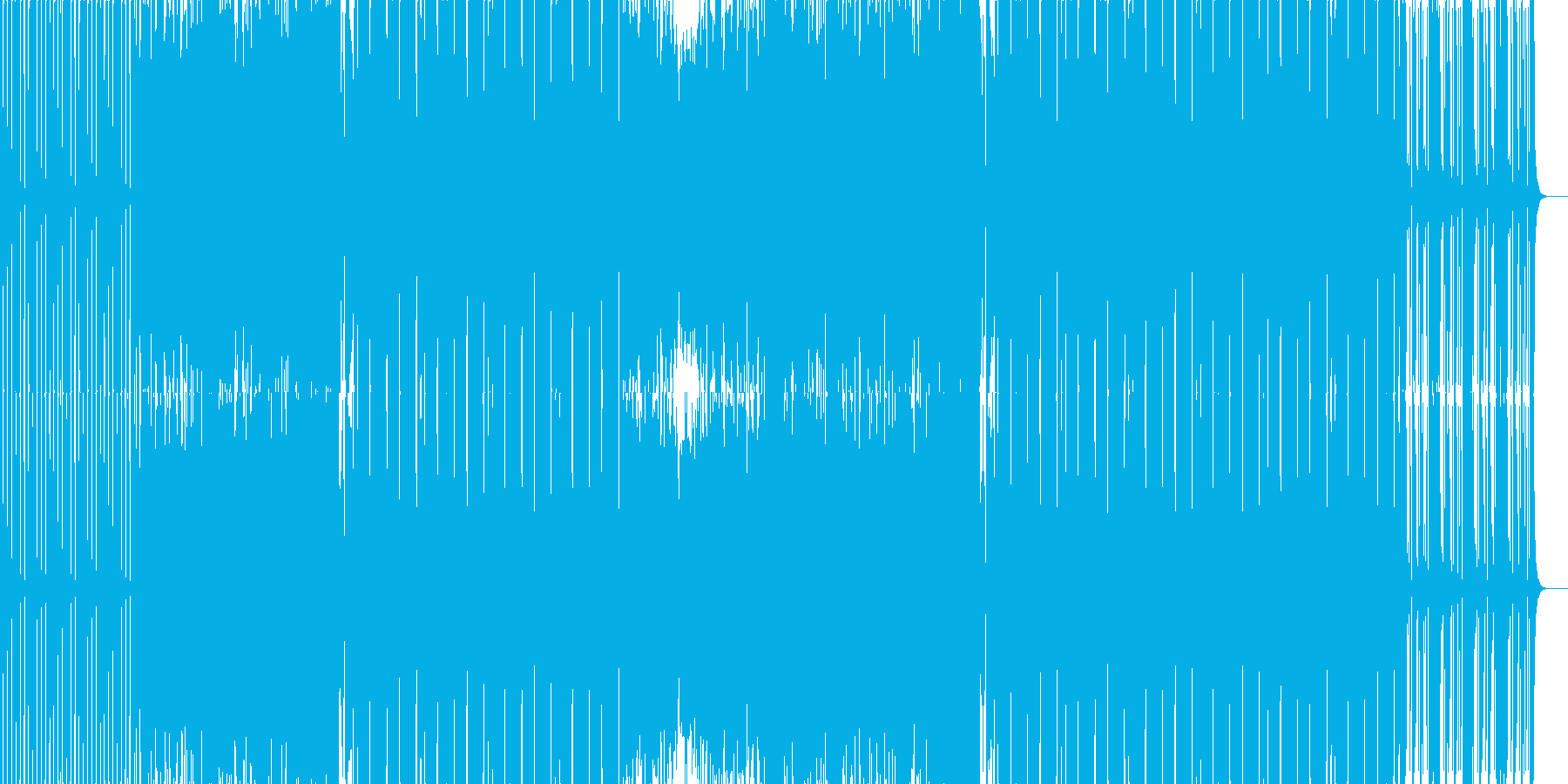 EDMクラブ系ダンスミュージック4の再生済みの波形
