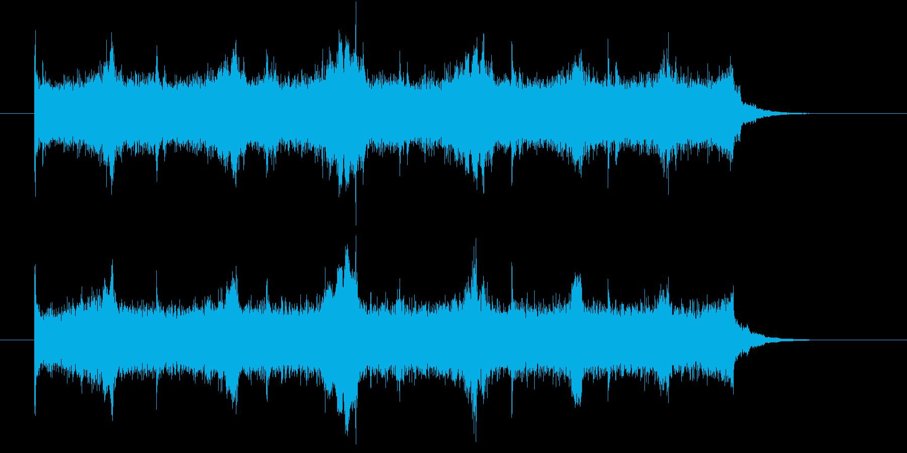 機械が動くような音の再生済みの波形