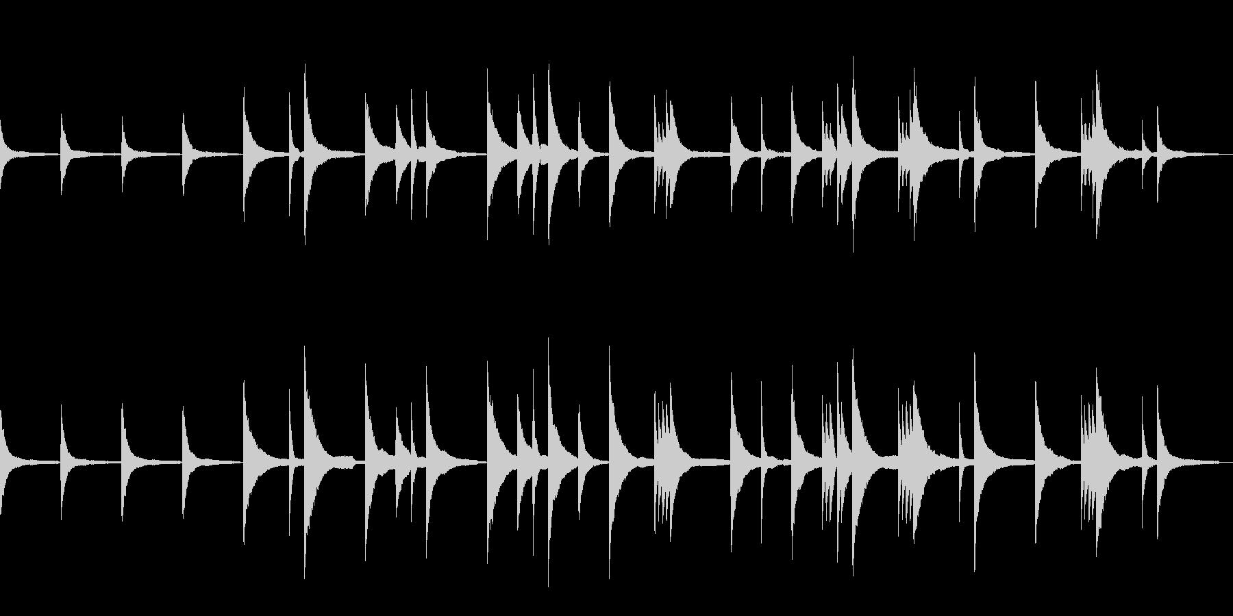ピアノだけのシンプルな曲の未再生の波形