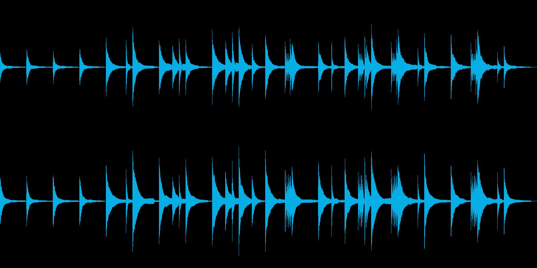 ピアノだけのシンプルな曲の再生済みの波形