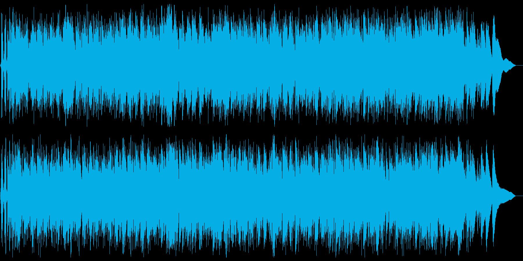 ゆったり爽やかギター弦楽器サウンドの再生済みの波形