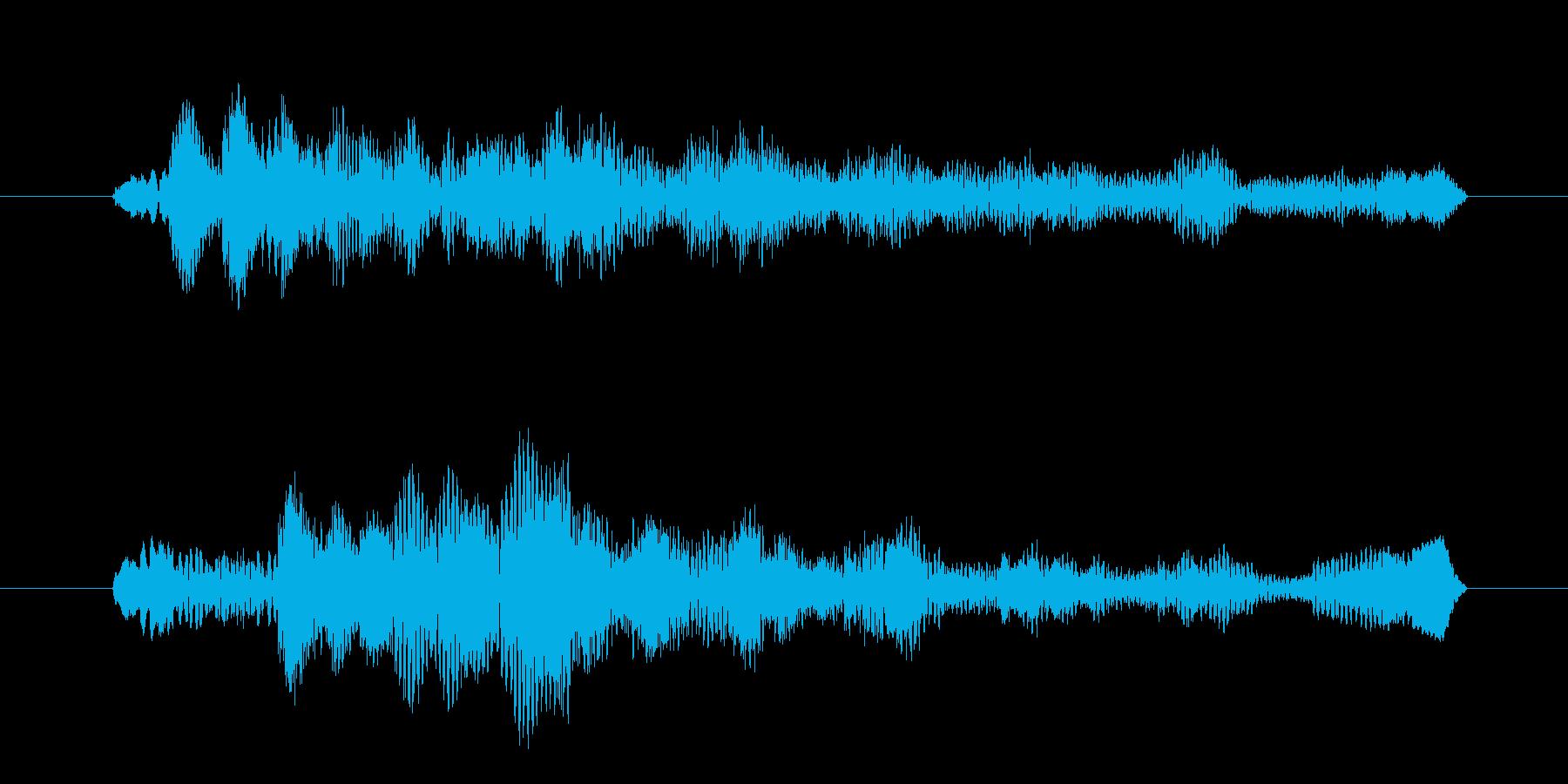 アンビエントな質感で細かなピアノジングルの再生済みの波形
