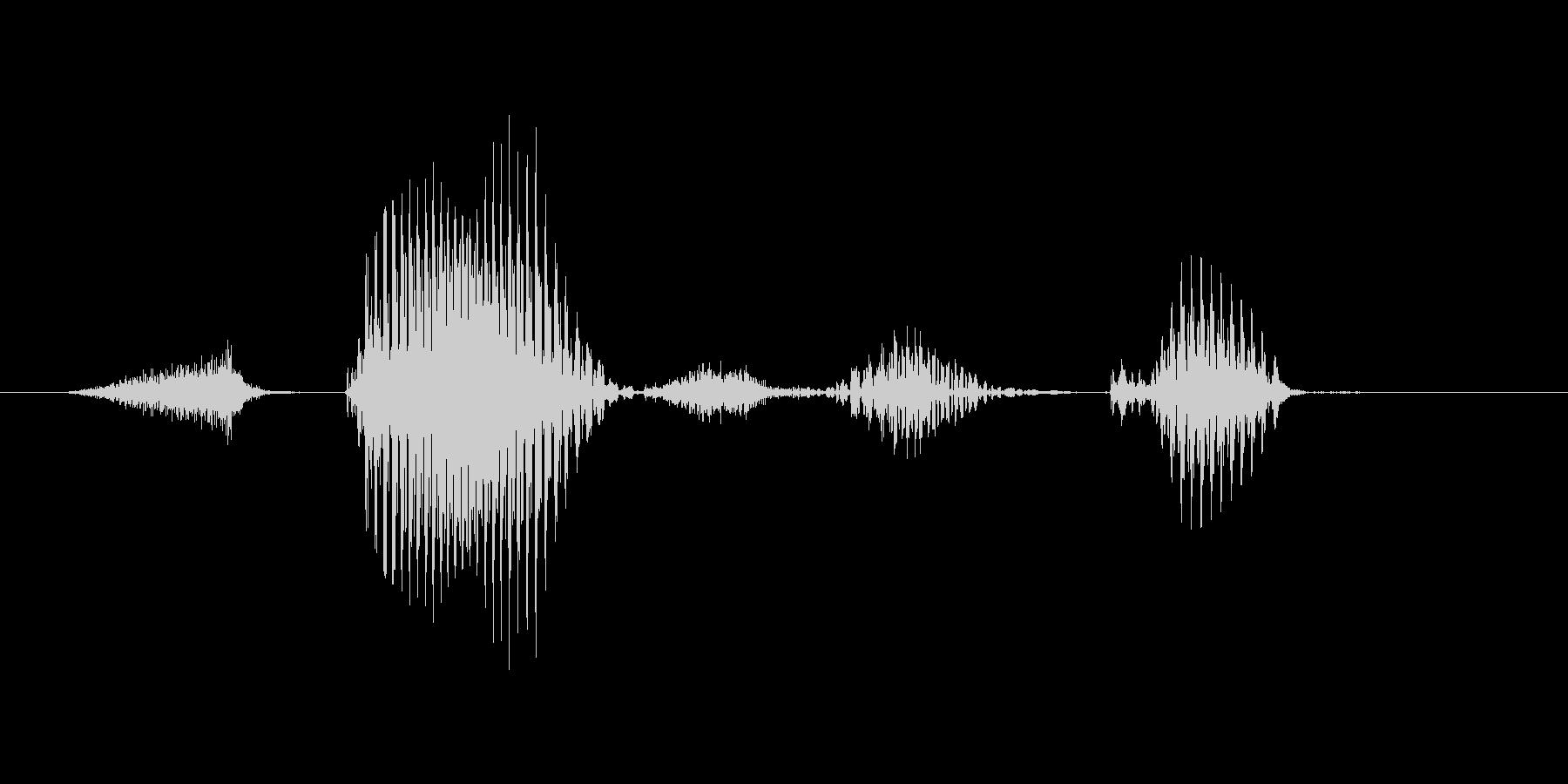 ステージ6(ろく)の未再生の波形