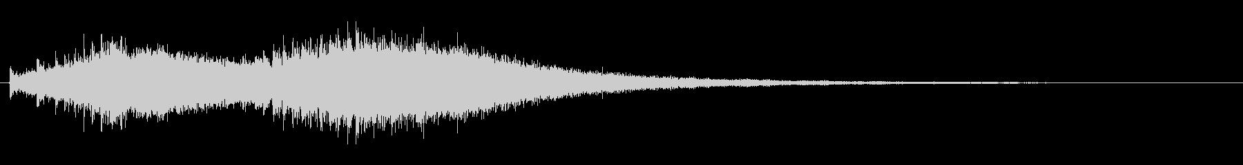 ジャジャジャ〜ン・・・・中国ドラの連打音の未再生の波形