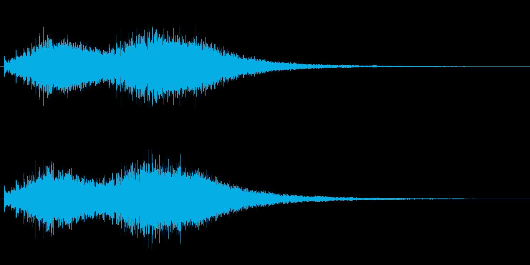 ジャジャジャ〜ン・・・・中国ドラの連打音の再生済みの波形