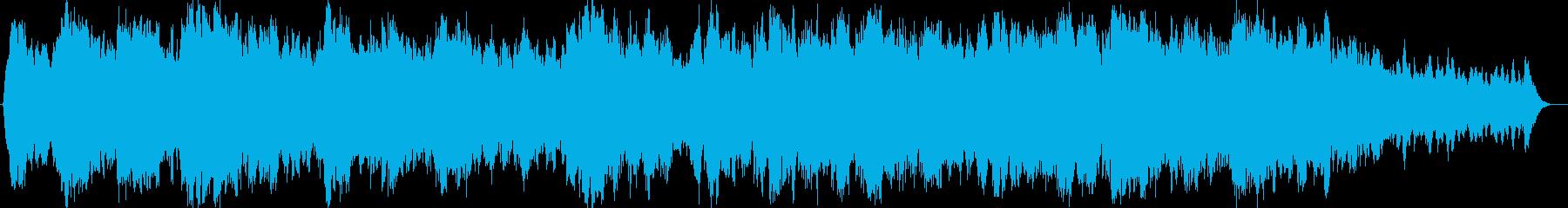 神秘的なヒーリングのシンセサイザー楽曲の再生済みの波形