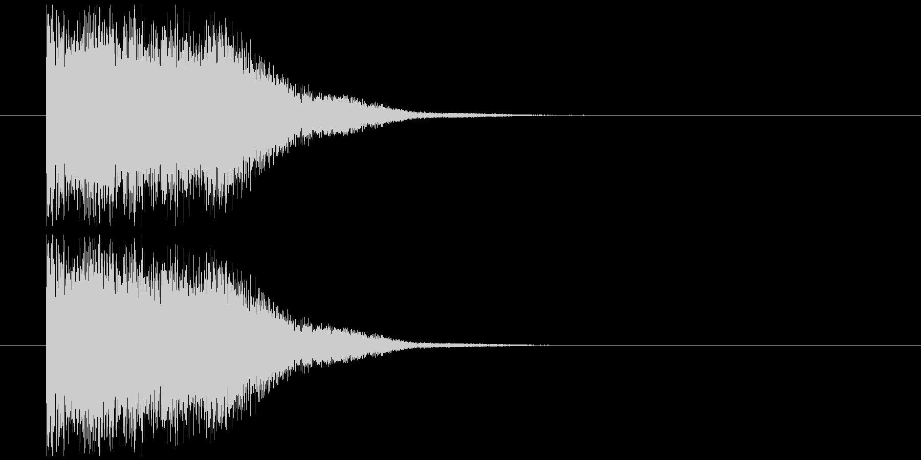 剣インパクト音の未再生の波形