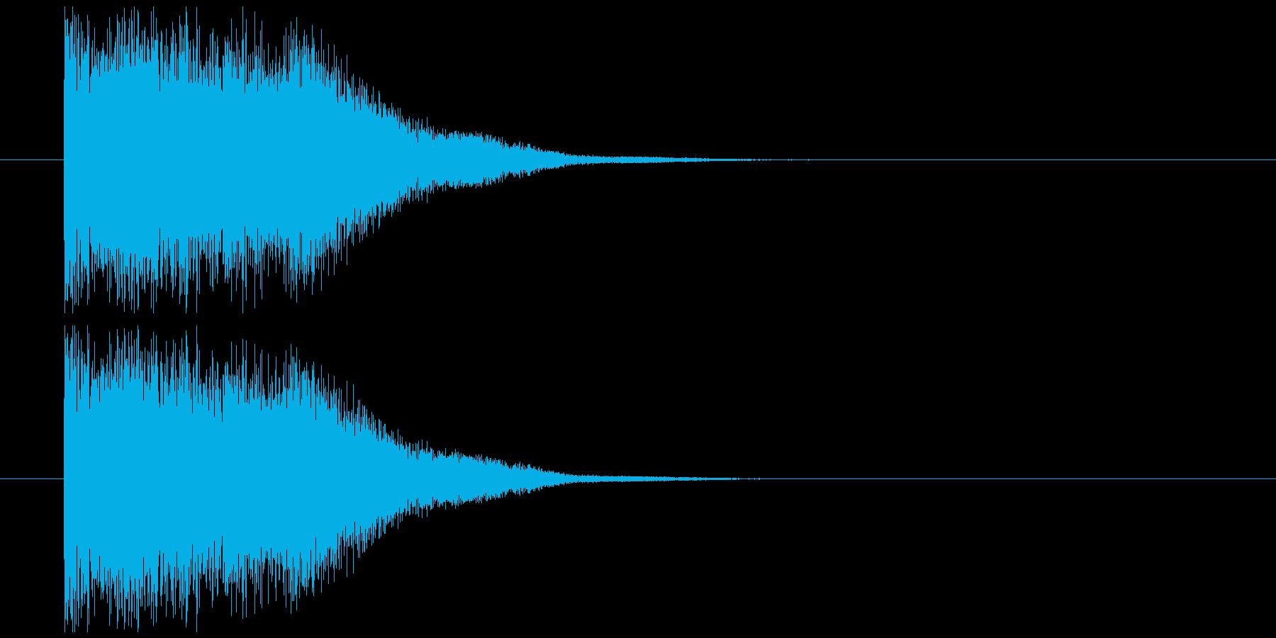 剣インパクト音の再生済みの波形