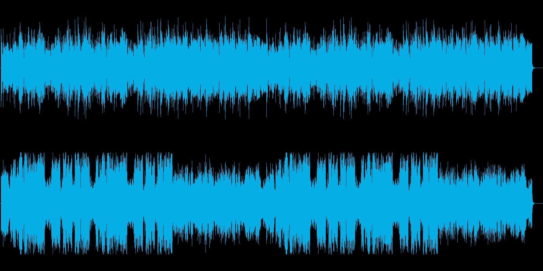 トランペットとアコギの牧歌的な三拍子の曲の再生済みの波形